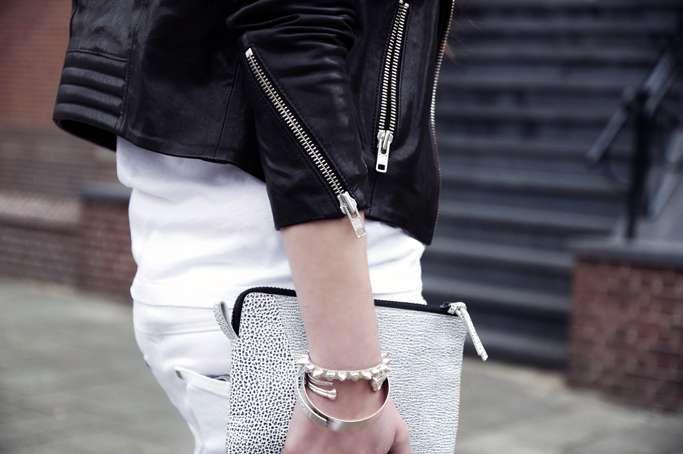 H&m Padded Leather Jacket