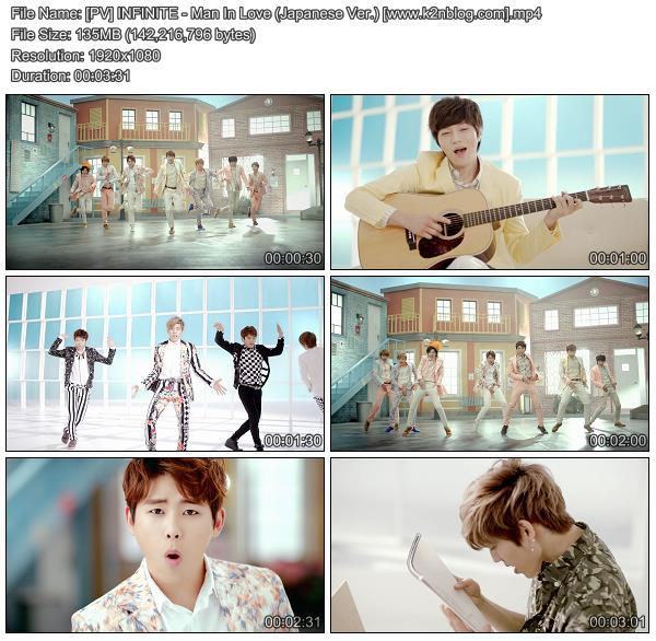 [PV] INFINITE - Man In Love (Japanese Ver.) [HD 1080p Youtube]